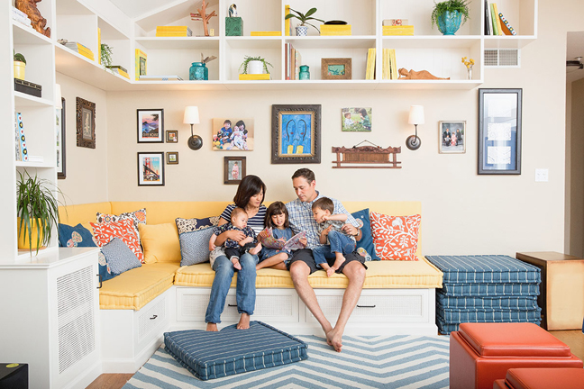 A multi-tasking family room from Homepolish