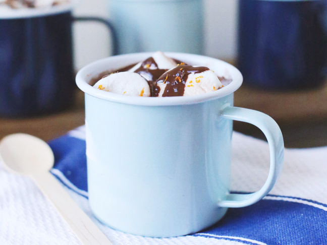 Boozy Orange Hot Chocolate