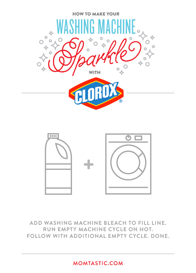 How to Clean Your Washing Machine with Clorox Bleach - SO EASY! It only takes a minute - let the bleach and machine do the work for you!