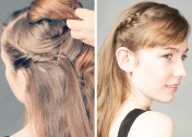 Holiday Hair in a Hurry: Easy Tuck Braid Headband Tutorial
