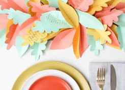 DIY Paper Leaf Thanksgiving Table Runners