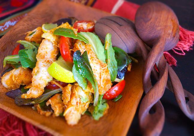 Crispy-Southwestern-Chicken-Salad-with-Chili-Lime-Vinaigrette