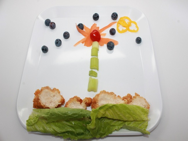 Food Flower Design Plate