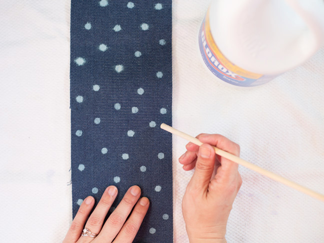 clorox-polka-dot-denim-fabric