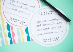 "[FREE PRINTABLE] ""I Like You Because…"" Notes"