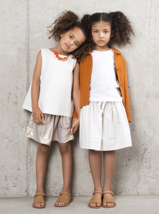 Elias and Grace sweet skirts with jackets and tops