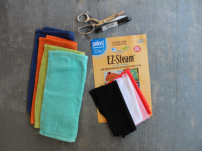 wash cloths scissors fabric