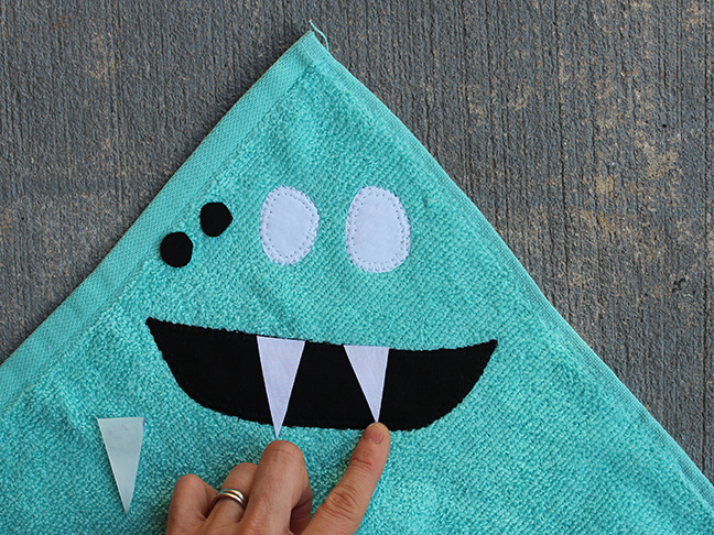 monster face wash cloth