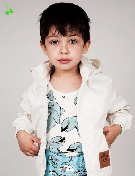 coll little boy wearing European jacket