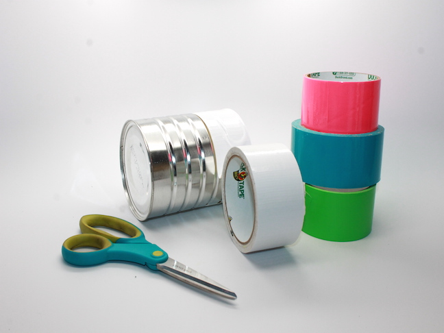 DIY Duct Tape Recycled Can Birdfeeder Craft