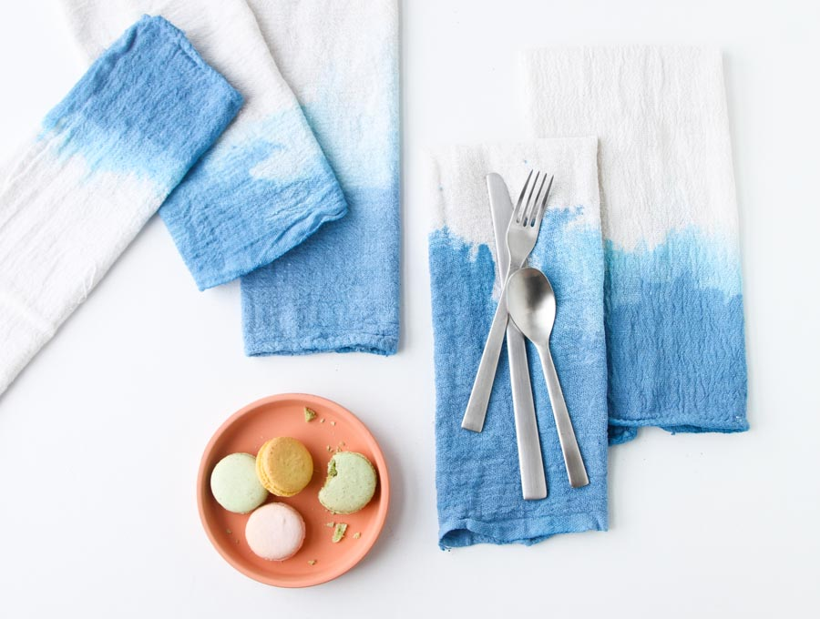 How to make dip dyed napkins