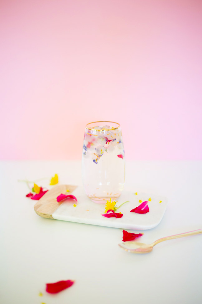 flower-petal-ice-cubes-glass-pink-wall