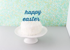 DIY Easter Cake Toppers Made from a Cereal Box
