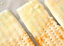 White Chocolate Dipped Matzo Recipe for Passover