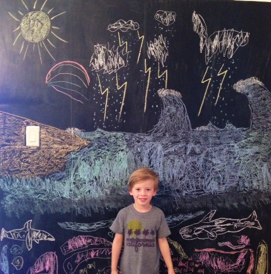 DIY chalkboard wall.3