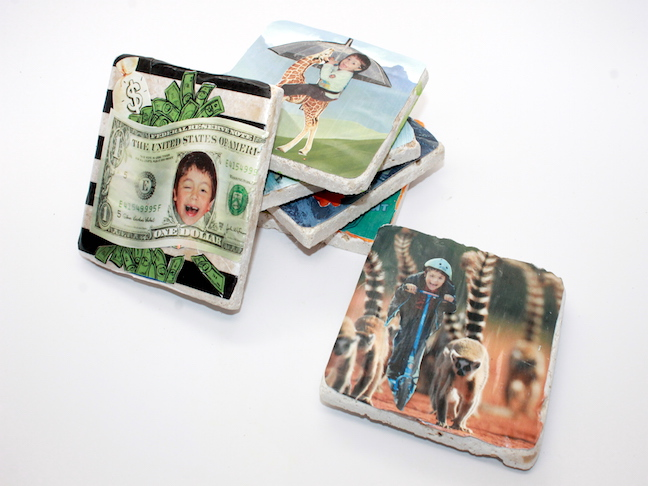 DIY Photo Collage Coaster