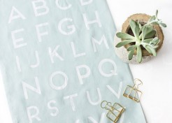 DIY Faux Screen Printed Alphabet Tea Towels