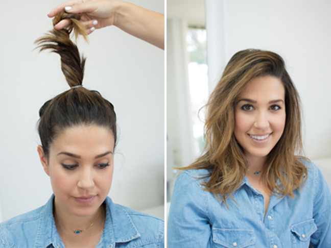 How To Style Short Hair Without Heat Photos How To Get Effortless Waves Without Heat Styling
