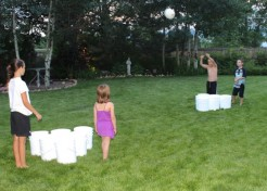 How to Play Bucket Ball: A Kid-Friendly, Giant Version of Beer Pong