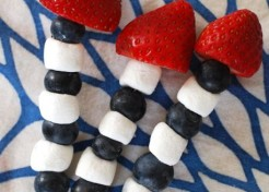 Red White and Blue Skewers