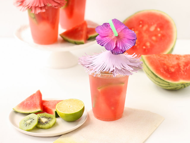 Tiki cups DIY for summer parties