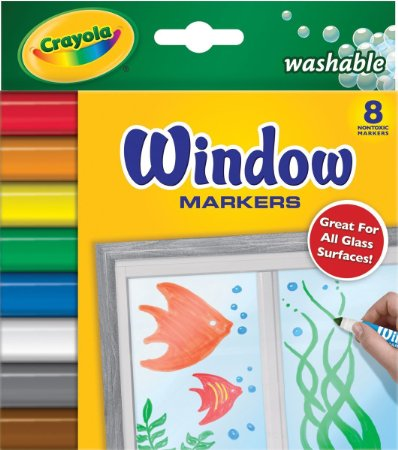 washable window markers for car trip with kids