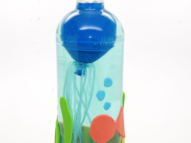 Jellyfish in a Bottle Science Experiment for Kids