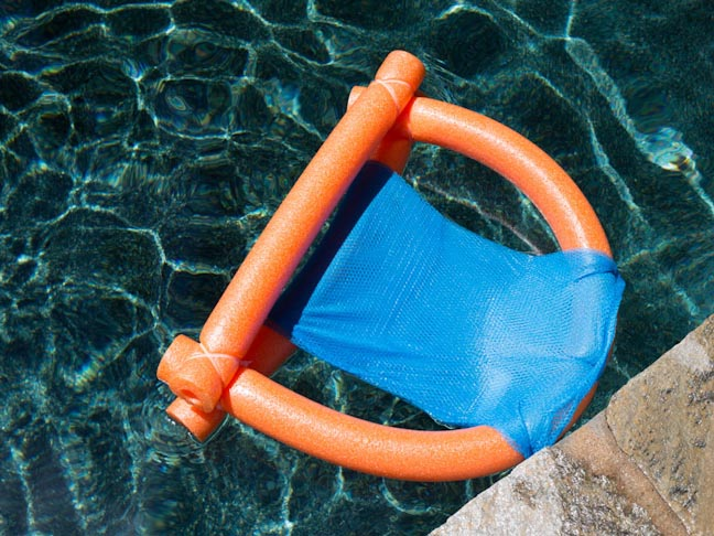 Easy Diy Pool Noodle Chair Float Made With Materials From