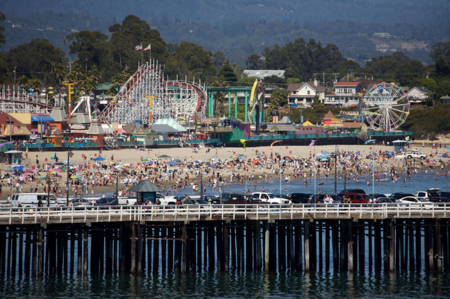 Santa Cruz California Beaches and Boardwalk