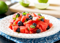 Watermelon Mint Salad with Blueberries Recipe