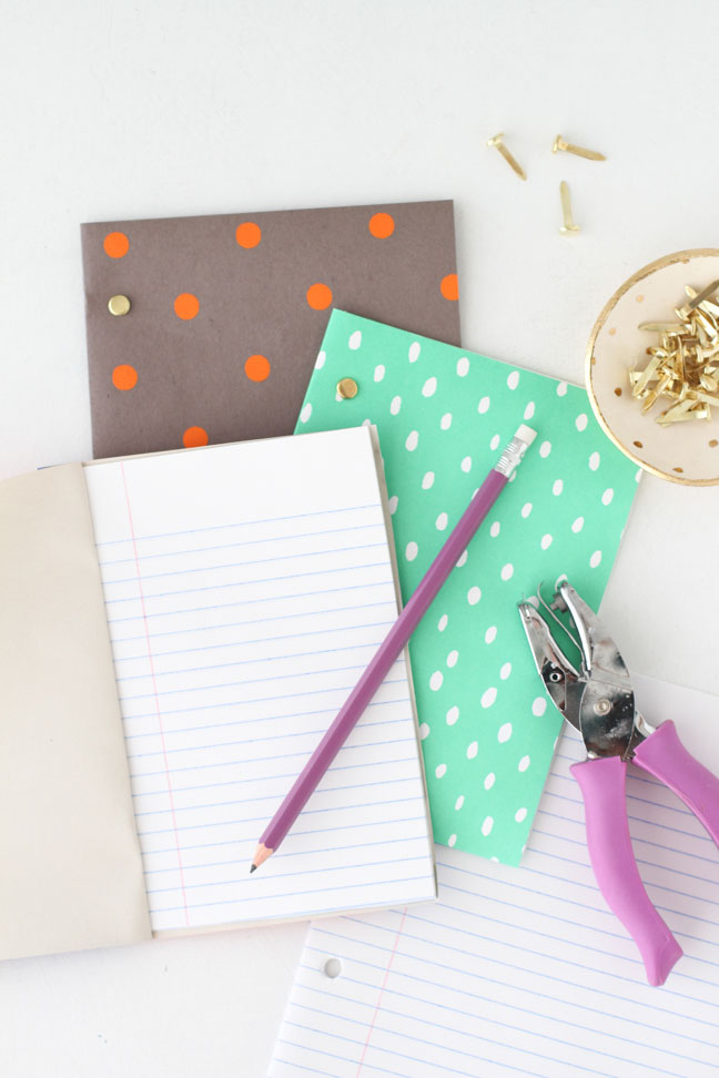 DIY // Back to School Notebooks the Easy Way