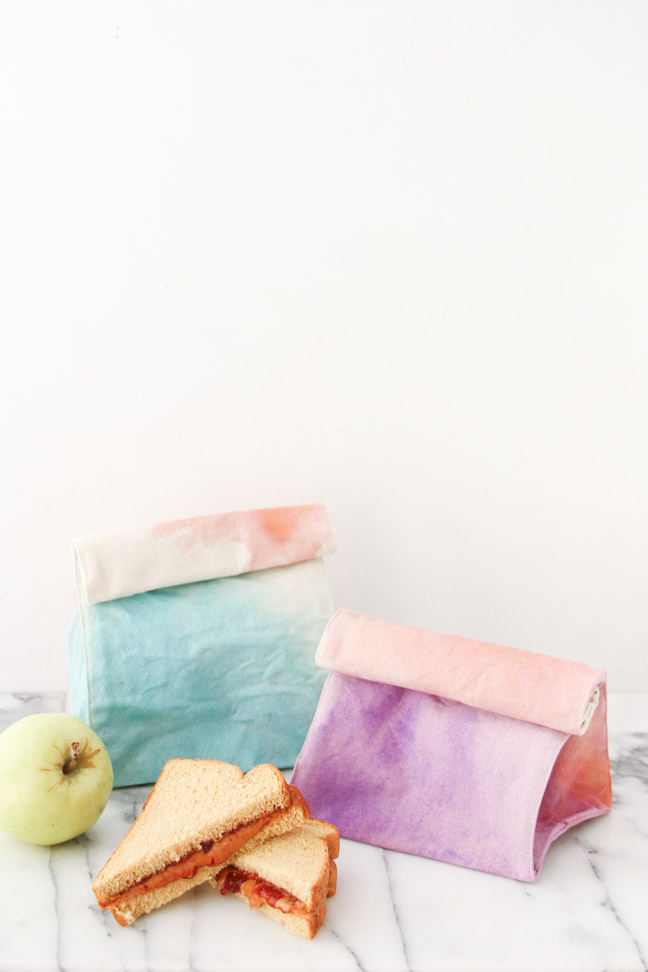 Watercolor Lunch Bags DIY
