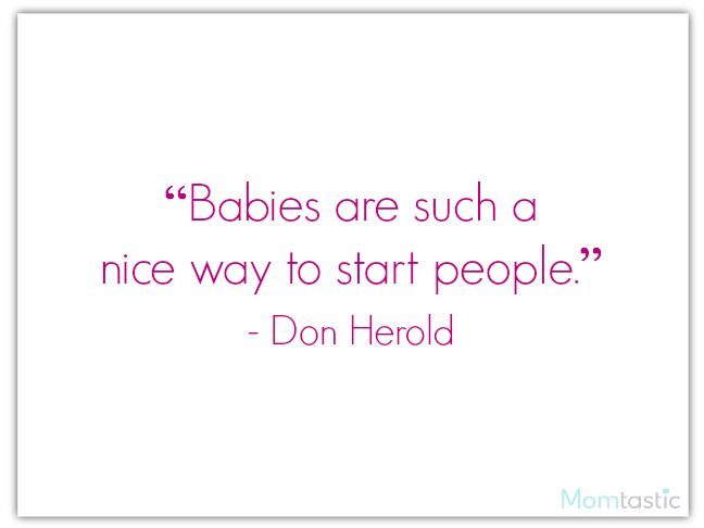 40 best quotes about babies featuring Don Herold on @ItsMomtastic