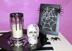 How to Make Glam Halloween Decor from Regular Household Items