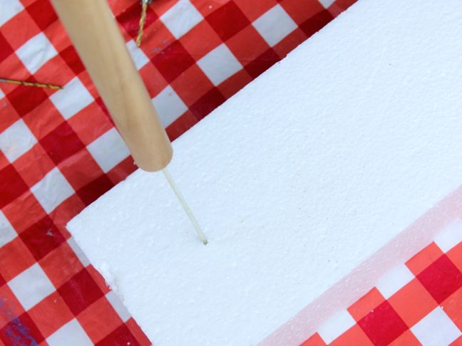 red-white-plaid-wood-dowel-metal-skewer-styrofoam-diy-project