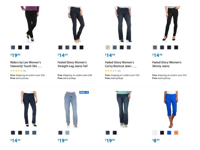 WalMart Screenshot Denim