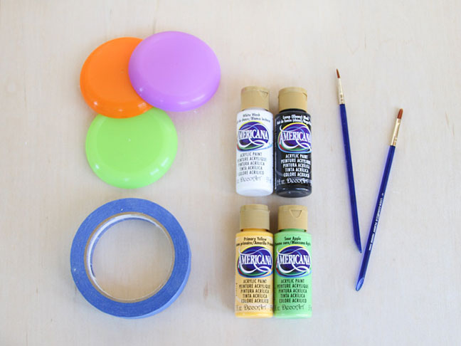 Supplies for DIY Mini Frisbees