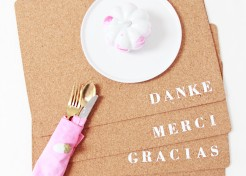 DIY 'Thanks' Thanksgiving Placemats in Different Languages