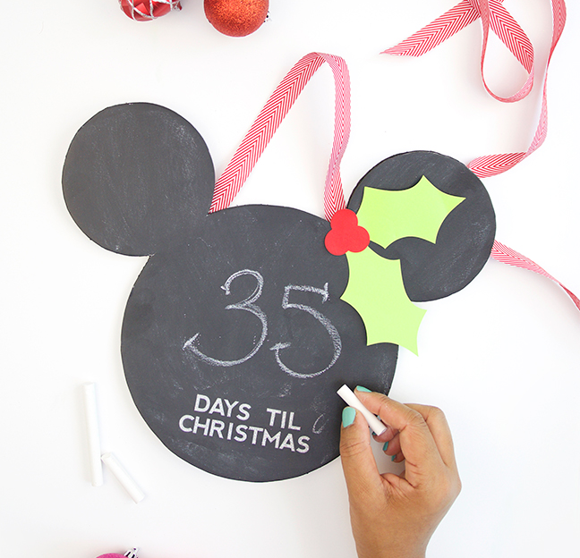DIY Merry Mickey Christmas Countdown Chalkboard