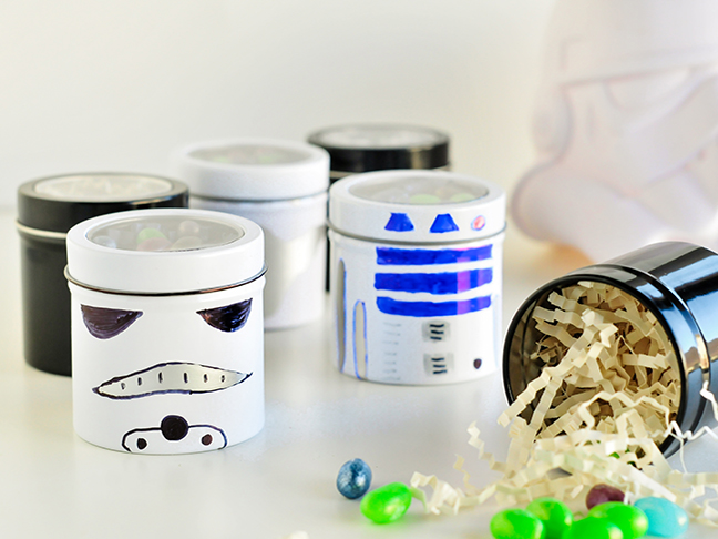 Star Wars Party Favors - Jelly Bean Cans