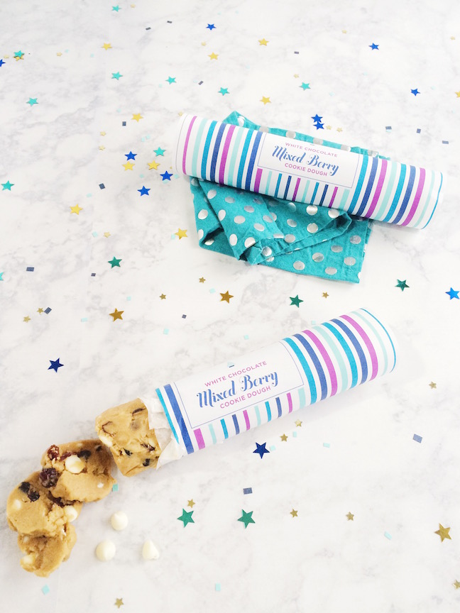 Mixed Berry White Chocolate Cookie Dough Gift and Printable | Shauna Younge