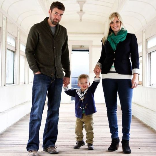 family holiday photo styling