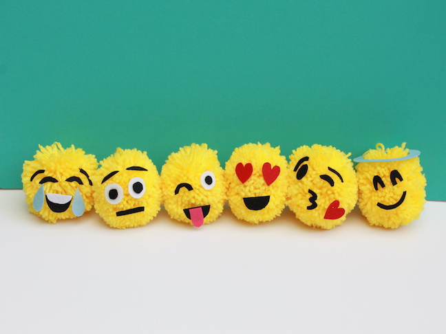 DIY Emoji Christmas Ornaments