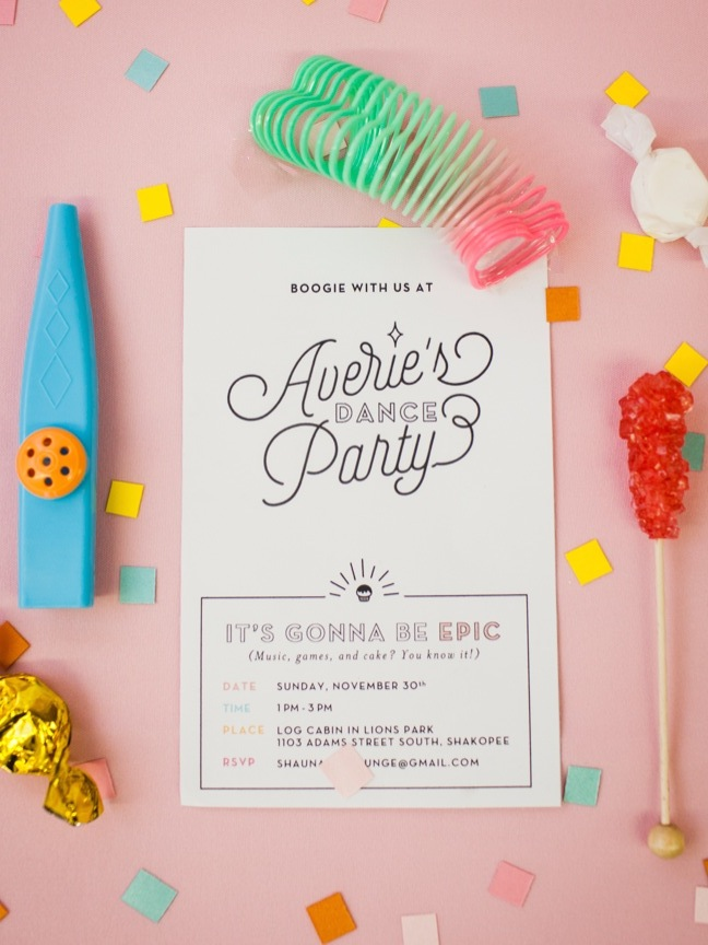 Averie's 6th birthday invite