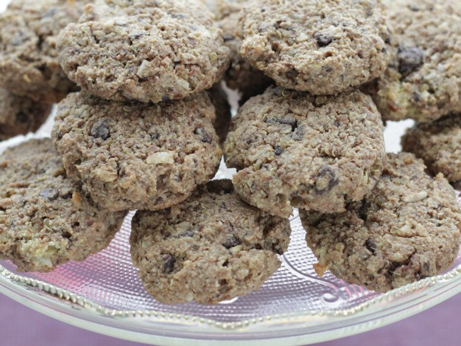 one bowl quinoa cookies with chocolate