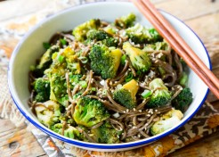 Broccoli Soy Soba Noodle Bowl Recipe