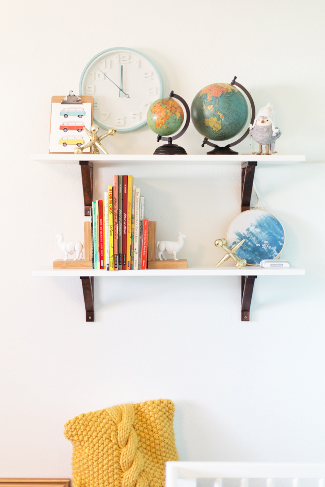 easy diy baby nursery shelves rh momtastic com 3 Shelf Bookshelf Nursery shelves for baby boy nursery