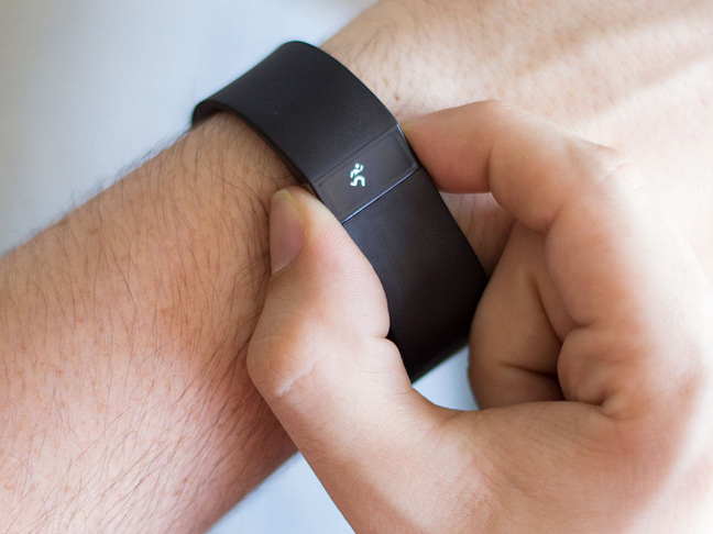 playing with a pivotal living fitness tracker