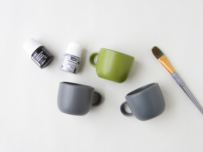 Supplies for Winter Watercolor Mug