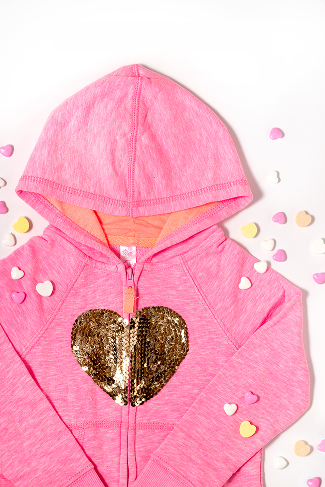 DIY Sequin Heart Hoodie for Kids - Mumtastic
